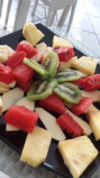 """""""small"""" fruit platter at work"""